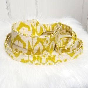 Ikat Fabric Obi-style Belt